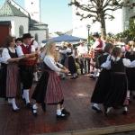 d`Volkstanzgruppe beim Perlesreuter Drescherfest, Bild 4152