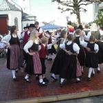 d`Volkstanzgruppe beim Perlesreuter Drescherfest, Bild 4141