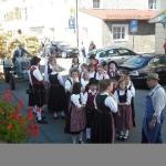 d`Volkstanzgruppe beim Perlesreuter Drescherfest, Bild 4132