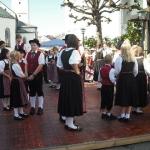 d`Volkstanzgruppe beim Perlesreuter Drescherfest, Bild 4147