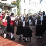 d`Volkstanzgruppe beim Perlesreuter Drescherfest, Bild 4157