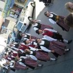 d`Volkstanzgruppe beim Perlesreuter Drescherfest, Bild 4134