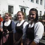 d`Volkstanzgruppe beim Perlesreuter Drescherfest, Bild 4144