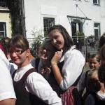 d`Volkstanzgruppe beim Perlesreuter Drescherfest, Bild 4138