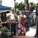 d`Volkstanzgruppe beim Perlesreuter Drescherfest, Bild 4155